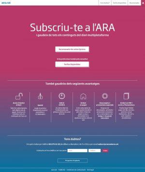 Diari Ara / Subscripcions